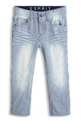 Esprit / Striped jeans in non-stretch denim