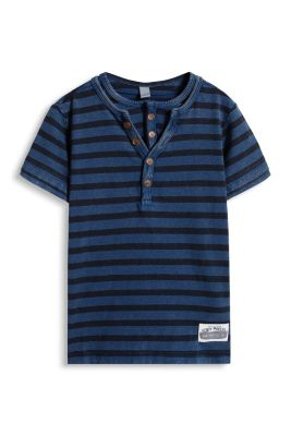 Esprit / Striped Henley-style layered tee