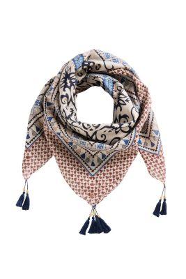 Esprit / Ornament Schal mit Tasseln