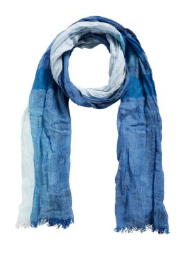 Esprit / Crushed woven scarf with linen