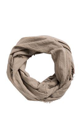 Esprit / Baumwoll-Loop-Schal mit Streifen