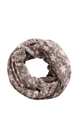 Esprit / Leichter Loop-Schal aus Leinen-Mix