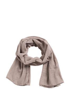 Esprit / All-over print lightweight woven scarf