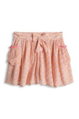 Esprit / Leichte Print Shorts mit elastischem Bund