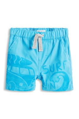 Esprit / Shorts with surfing print, 100% cotton