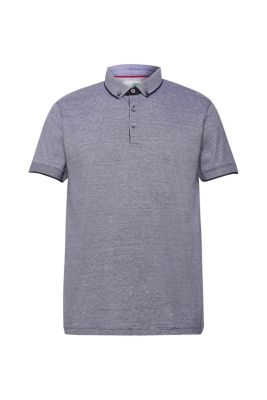 Pottseth Shirts for Men Cotton Linen Polo Blouse Short Sleeve Dyed Gradient Tops Tee Business Shirt Summer