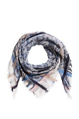 Esprit / Quadratischer Schal mit floralem Muster