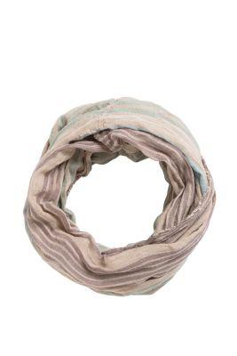 Esprit / Gewebter Loop-Schal, Leinen/Baumwolle
