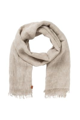 Esprit / Light woven scarf made of linen/cotton