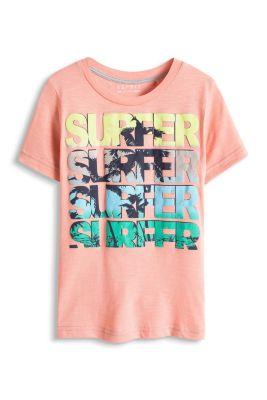 Esprit / T-shirt with surfer print, 100% cotton