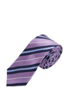 Esprit / Tie with a striped pattern, 100% silk