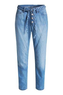 Esprit / Leichte Ankle-Jeans mit Gürtel