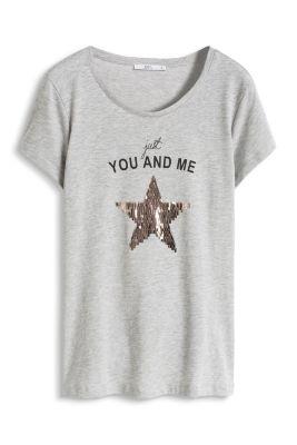 Esprit / T-Shirt mit Pailletten-Stern