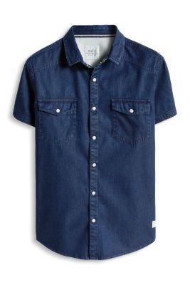 Esprit / Denim Hemd aus 100% Baumwolle