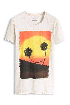 Esprit / T-shirt jersey imprimé, 100 % coton