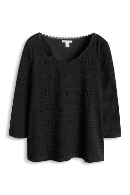 Esprit / Shirt aus ornamentaler Spitze