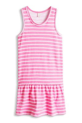 Esprit / Geringeltes Shirt-Kleid, 100% Baumwolle