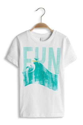 Esprit / T-shirt imprimé FUN, 100 % coton