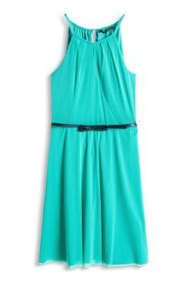 Esprit / Luftiges Mesh-Kleid mit Gürtel