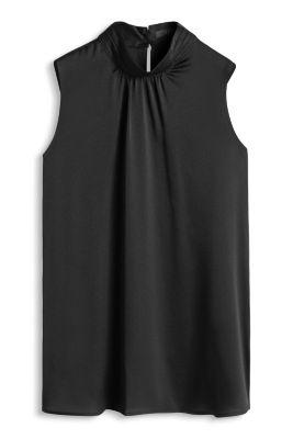 Esprit / Fließende Stretch-Bluse aus Struktur-Satin