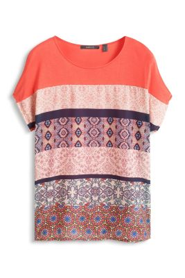 Esprit / Flowing printed mixed material top