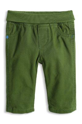 Esprit / Baumwollhose mit Umschlagbund