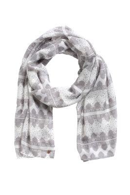 Esprit / Schal mit Ornament-Print
