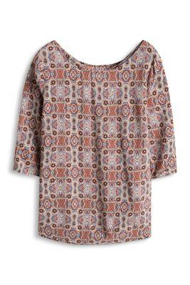 Esprit / Print Bluse mit Rücken-Ausschnitt