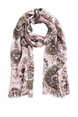 Esprit / Scarf with a paisley pattern