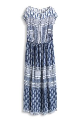 Esprit / Flowing maxi dress in an ethnic style