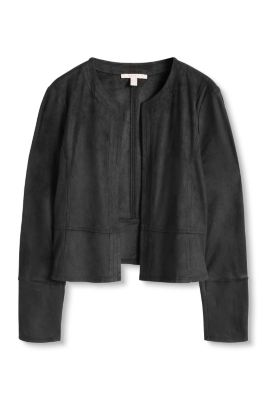 Esprit / Cropped stretch faux leather jacket