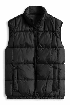 Esprit / Reversible gilet with a camouflage print