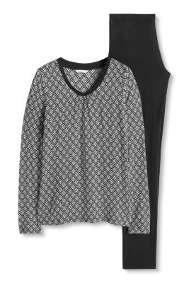 Esprit / Pyjama aus Jersey/Stretch
