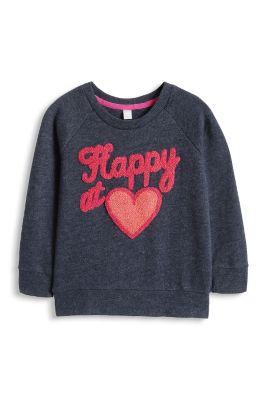 Esprit / Melange Sweatshirt mit Frottee Stitching
