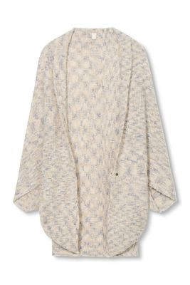 Esprit / Soft knit poncho with a textured pattern