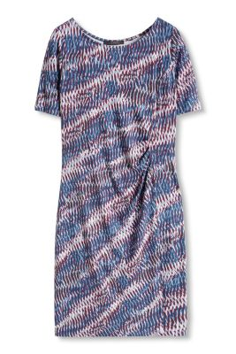 Esprit / Stretch Print Kleid aus kreppigem Jersey
