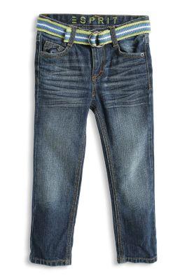 Esprit / Non-Stretch Basic-Jeans mit Webgürtel