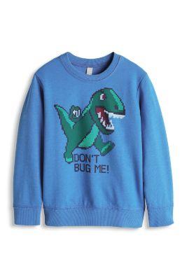 Esprit / Baumwoll Sweatshirt mit Dino-Print