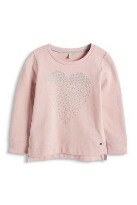 Esprit / Baumwoll Mix Sweatshirt mit Glitter Print