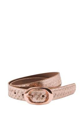 Esprit / Metallic-Ledergürtel mit Sternenmuster