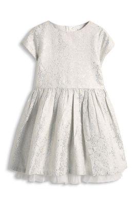 Esprit / Party Kleid mit glänzendem Blütenmuster