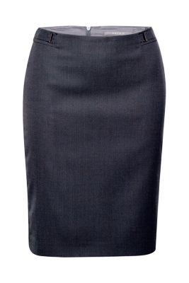 Esprit / Business Bleistiftrock mit Zierschnallen