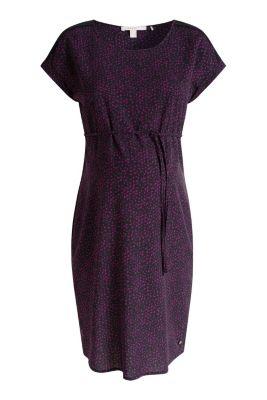 Esprit / Print-Kleid mit Lochmuster-Blenden