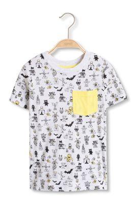 Esprit / Baumwoll Jersey T-Shirt mit Monster-Prints