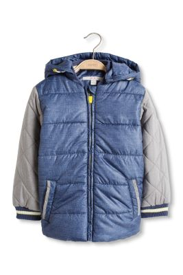 Esprit / Wattierte Colorblock-Jacke im College-Stil